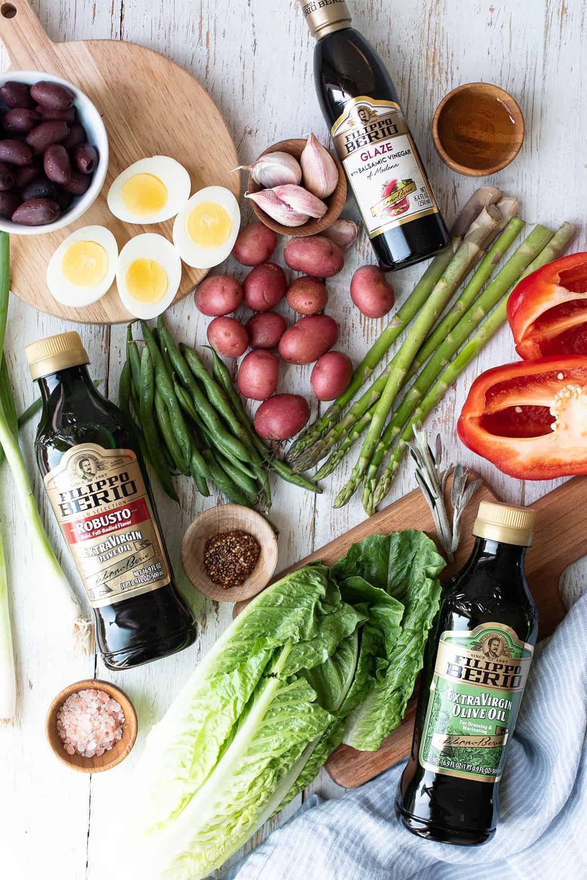 olive oil poached cod salad ingredients