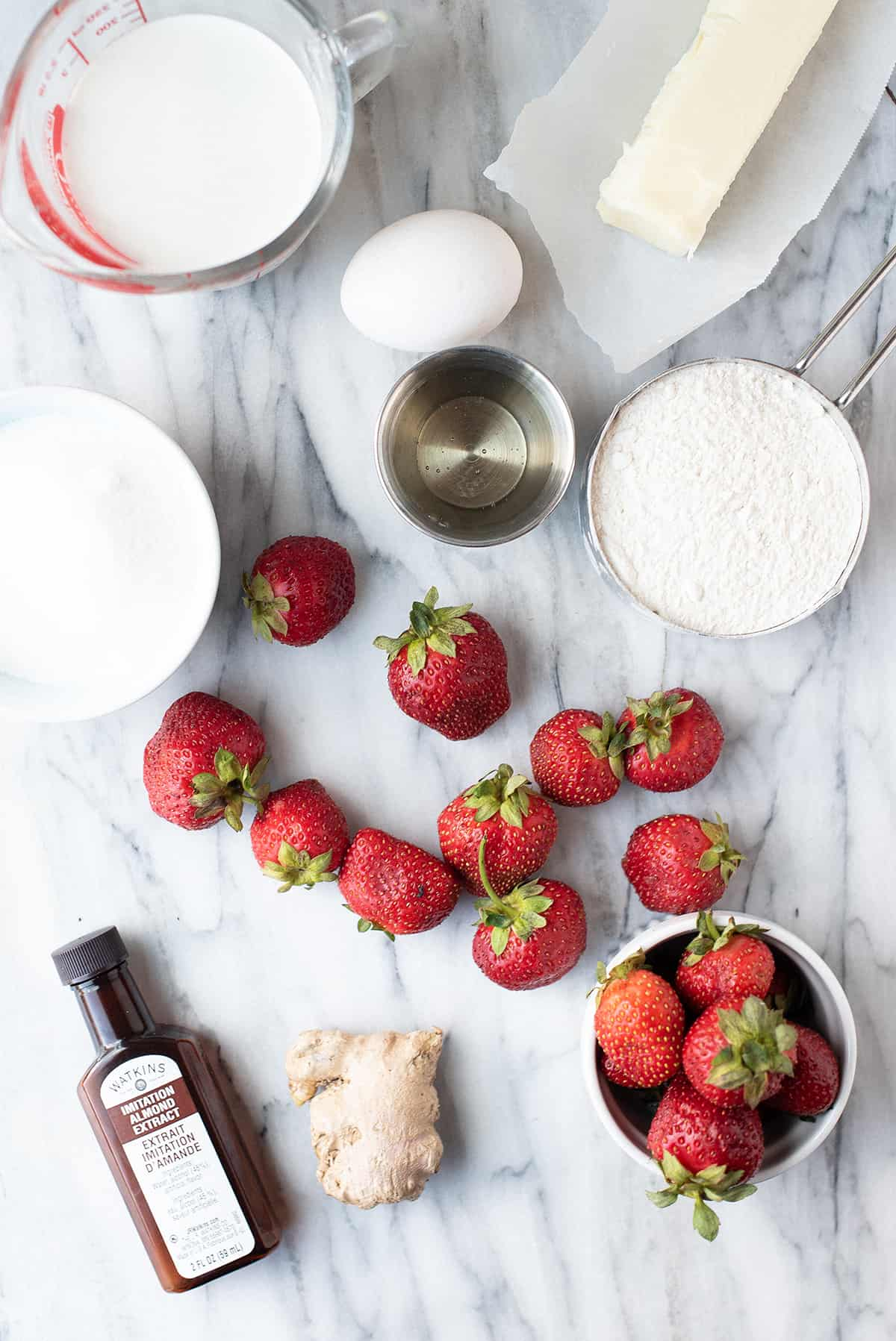 strawberry chewy butter bars ingredients
