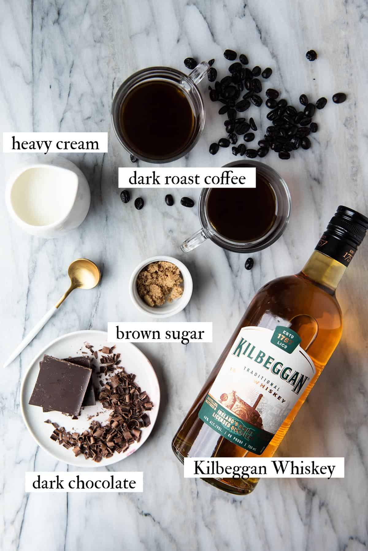 traditional Irish coffee ingredients