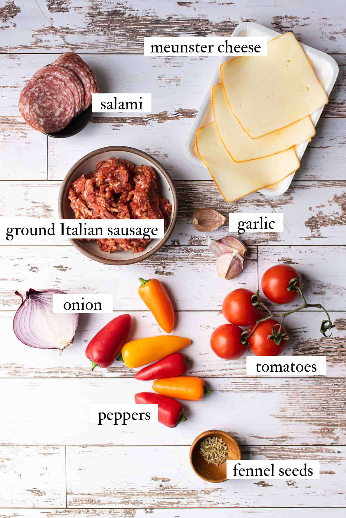 ingredients for hot sausage burgers